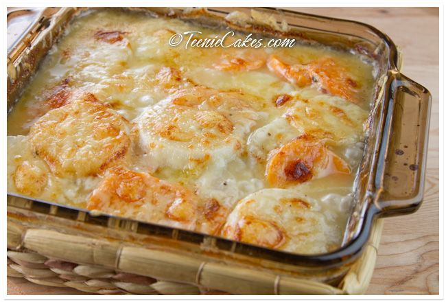 Turnip and Sweet Potato Gratin with Gruyere — Teenie Cakes