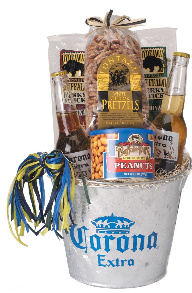 381 best his and her baskets images on pinterest basket ideas man beer gift basket but with miller lites of course negle Images