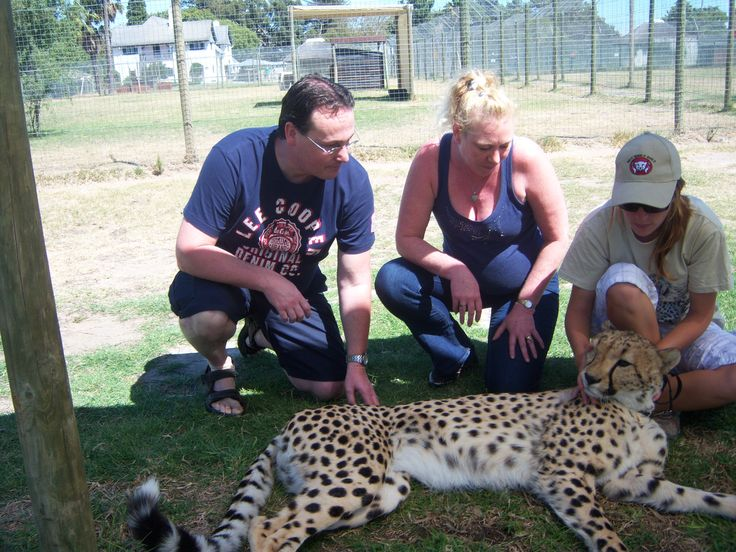 Me and My Wife at Cheetah Outreach near Somerset West just outside Cape Town