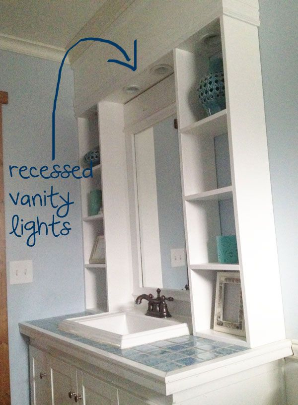Ana White Build a Vanity Hutch with Recessed Lights Free and Easy DIY Project and Furniture ...