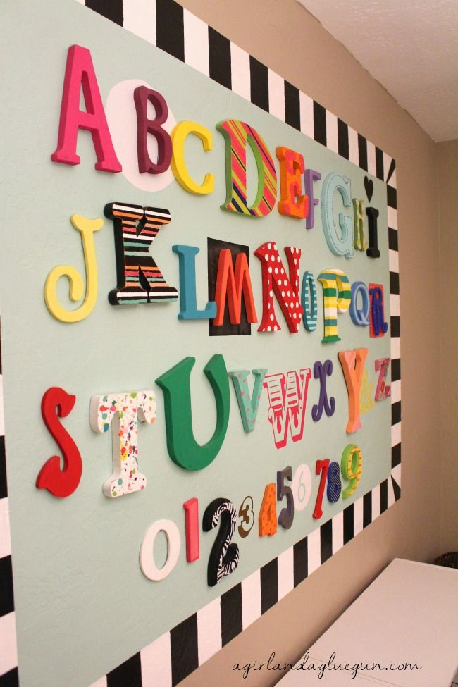 My new Abc wall with FrogTape® - A girl and a glue gun #paintontextures #ad