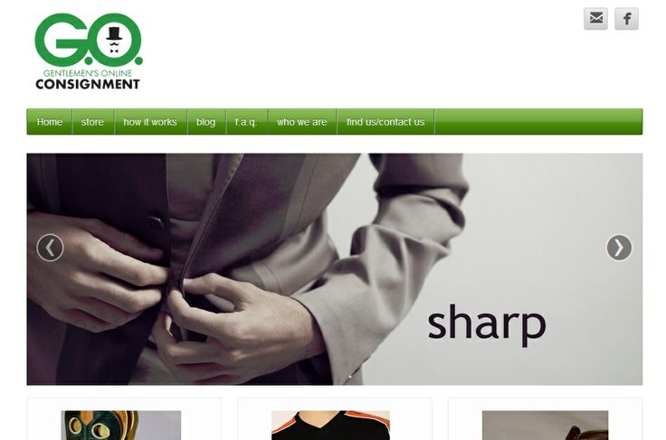 A men's clothing consignment service needed a sharp website for their startup.