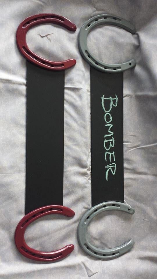 Stall name plates, cute idea