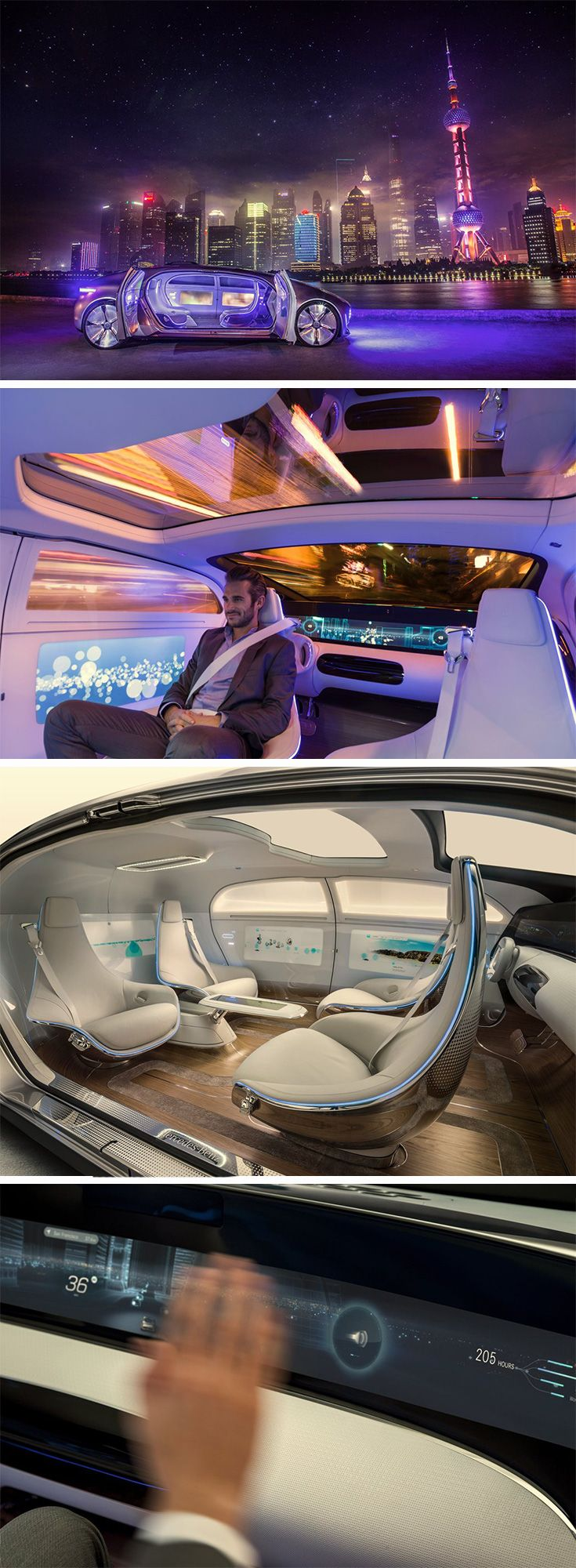 Mercedes-Benz hopes to notch up the self-driving car experience with their F 015 Luxury in Motion concept car.