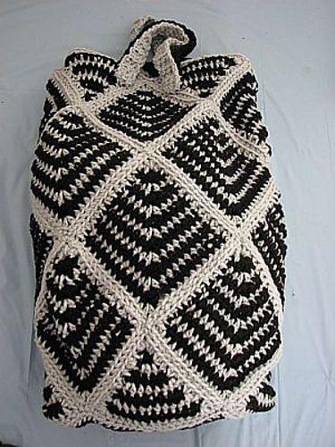 Striped Square Tote: free #crochet #tote pattern