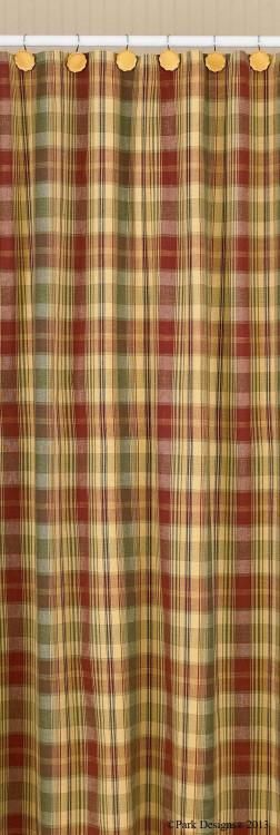 plaid shower curtain | country shower curtain