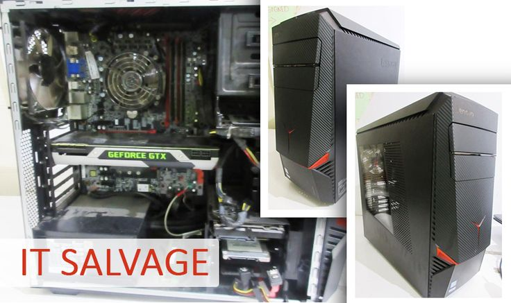 The Big Brand IT Salvage Equipment Auction features black Lenovo Desktop Computer amongst a great range of other desktops, monitors, laptops and more