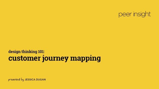 Design Thinking 101: Customer Journey Mapping