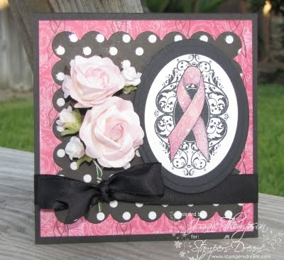 Breast Cancer Awareness: Breast Cancer Awareness, Scrapbooking Cards, Pinki Ribbon, Cancer Ideas, Cards Breast Cancer, Cards Pink, Card Ideas, Anniversary Cards