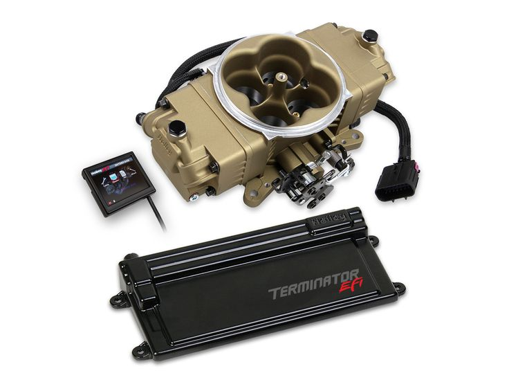 New from Holley – the Terminator Stealth EFI system. This system offers the classic looks of a carburetor combined with the customizability of electronic fuel injection, and will support up to 600 hp.