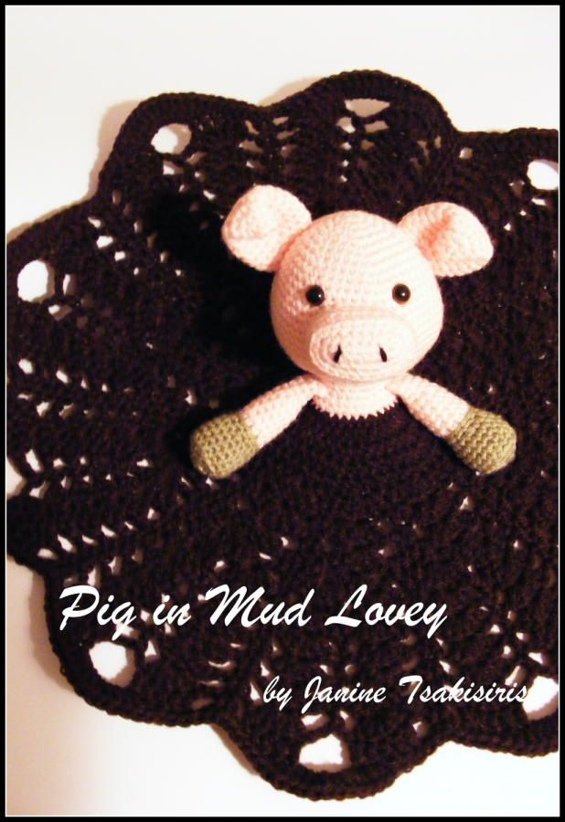 Everyone wants to be as happy as a pig in mud right? Haha! Here's my latest pattern design, a pig in mud lovey! Find the pattern on Ravelry: http://www.ravelry.com/patterns/library/happy-as-a-pig-in-mud-lovey