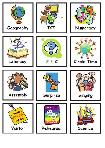 Visual Timetable - lots of variety!                              …