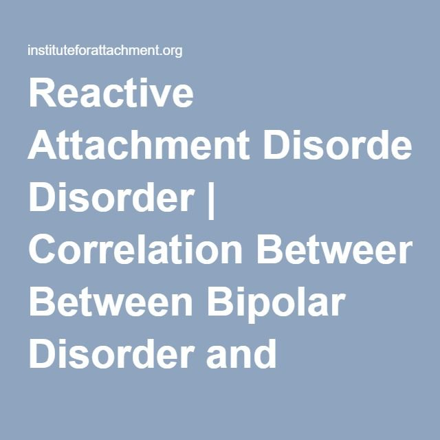 Dating someone with reactive attachment disorder