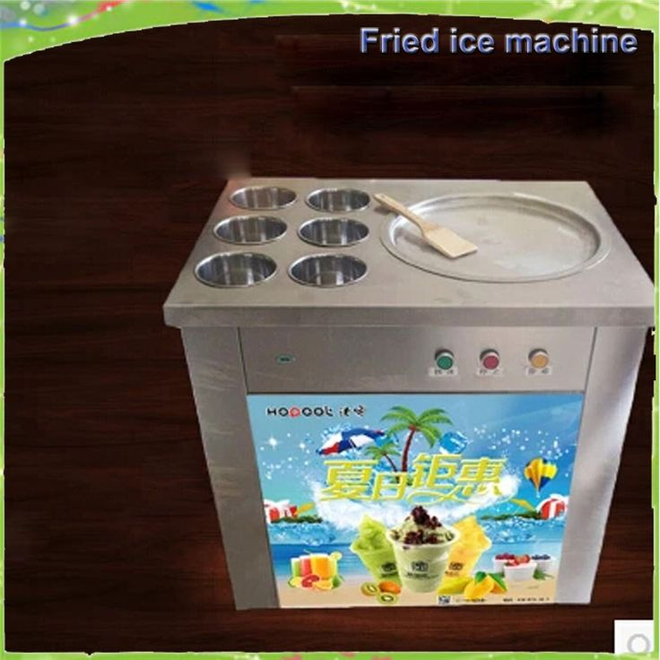 1279.00$  Watch now - http://alig86.worldwells.pw/go.php?t=32597998938 - Free shipping 2016 110V 220V flat pan freezing ice cream machine Comercial flat pan with 6 buckets fried ice cream machine