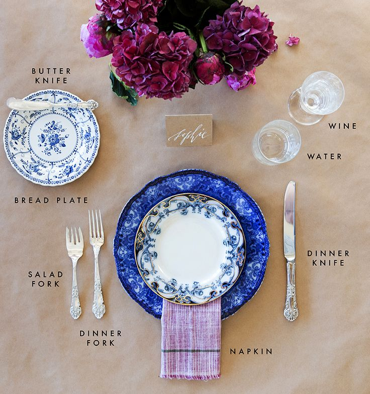 How to properly set a formal dining table.