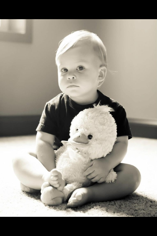 18 month old pictures; photo by Melody Mann / love the black and white / photograph with baby's favorite toy