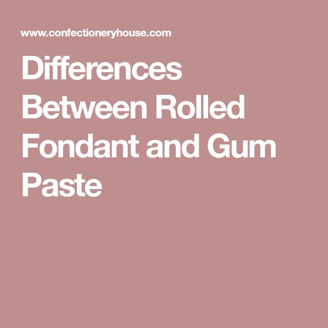 Differences Between Rolled Fondant and Gum Paste