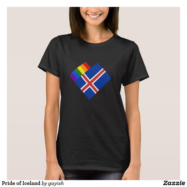 Pride of Iceland t-shirt.  #gaypride #gayrights #tshits #prideshirt #pride #flags #heart #gayiceland #iceland #island #gayisland