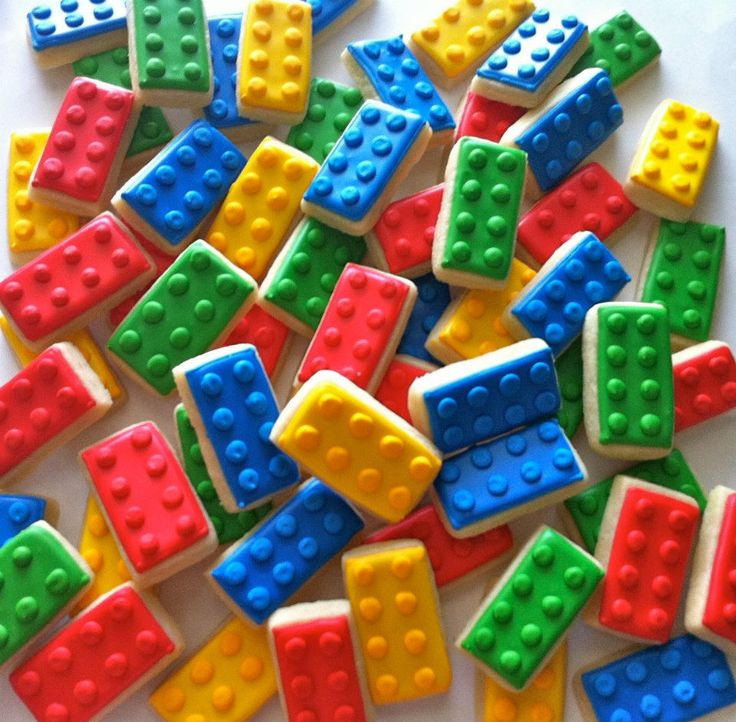 Lego cookies - Check out hayleycakesandcookies.com or on Facebook.  Her stuff is AMAZING!