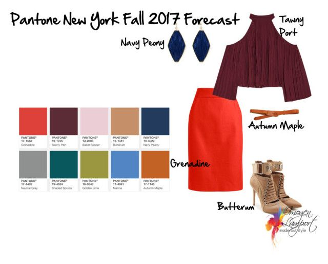 pantone New York Fall forecast 2017 by imogenl on Polyvore featuring polyvore fashion style W118 by Walter Baker J.Crew Puma Lowie clothing