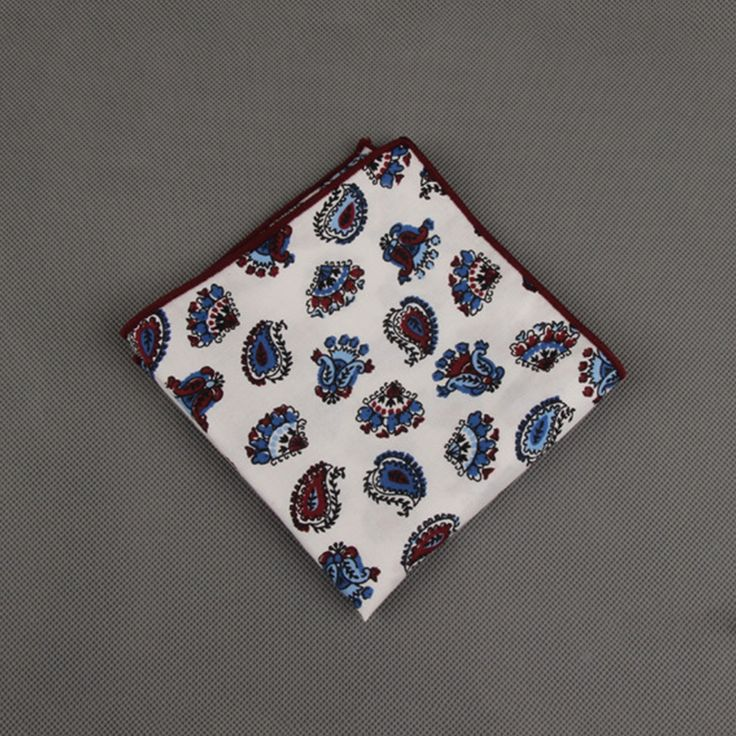 Mens Cotton Pocket Square - RED FLOWERS POCKET by VIDA VIDA fWkvawb