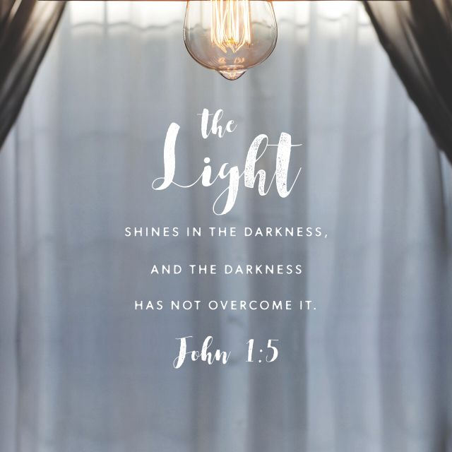 """And the light shineth in darkness; and the darkness comprehended it not."" ‭‭John‬ ‭1:5‬ ‭KJV‬‬ http://bible.com/1/jhn.1.5.kjv"