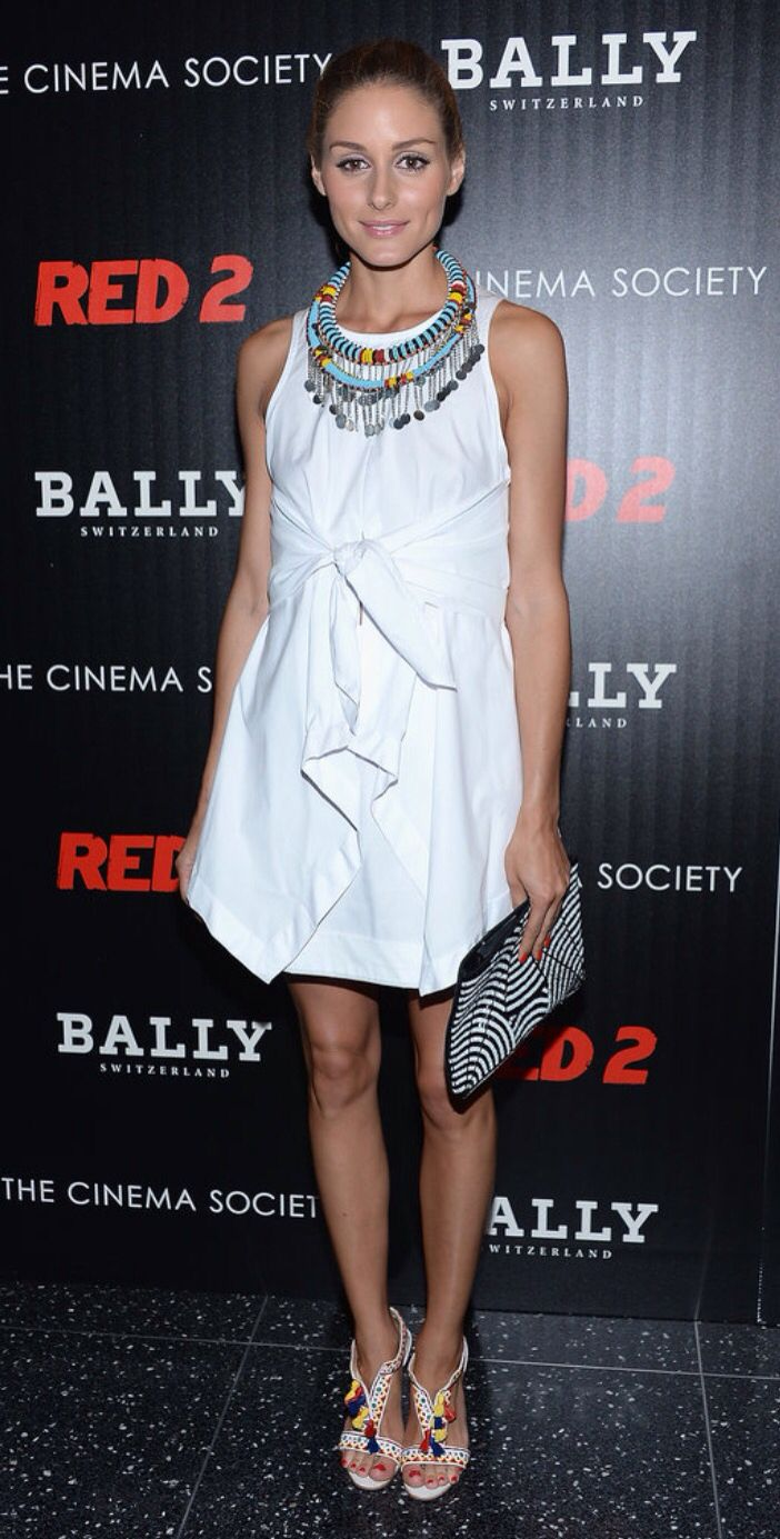 You gotta love Olivia Palermo!love her South African inspired necklace too!
