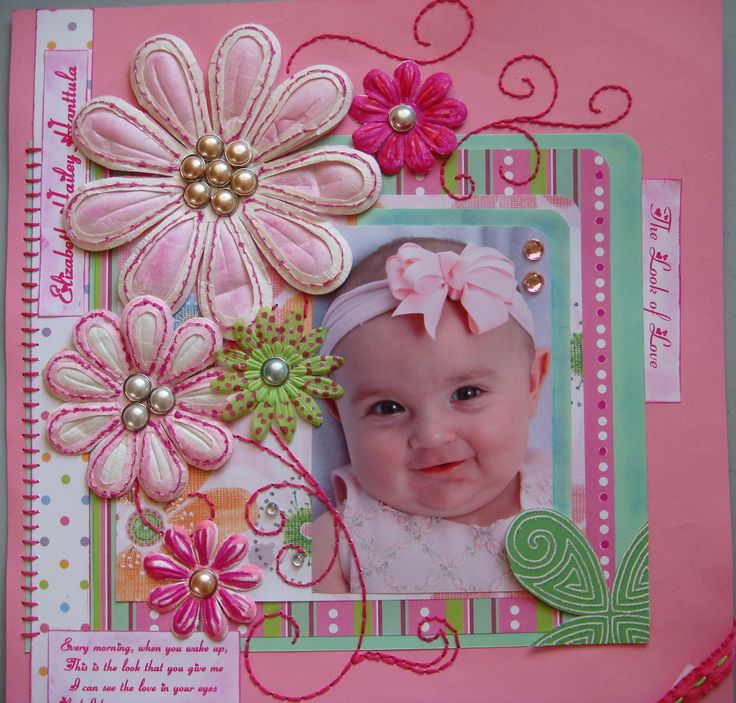Baby Book Cover Page Ideas : Scrapbooking ideas for baby girl pixshark