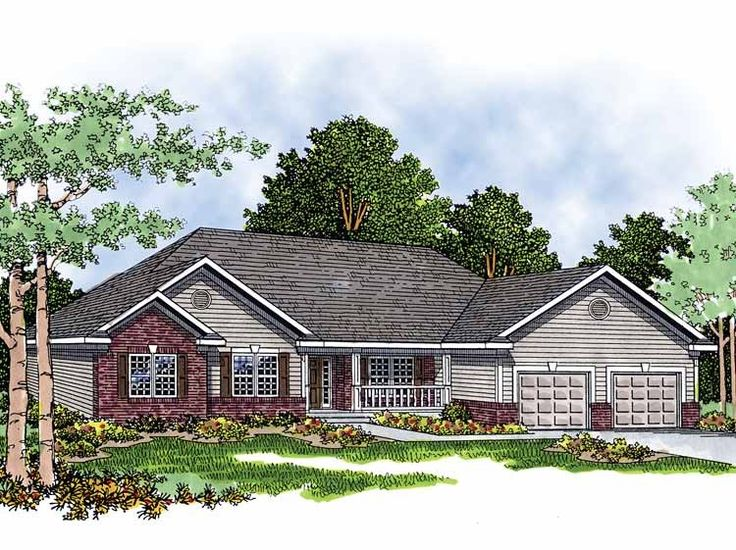 Eplans ranch house plan brick and siding home 1926 for How big is a square of siding