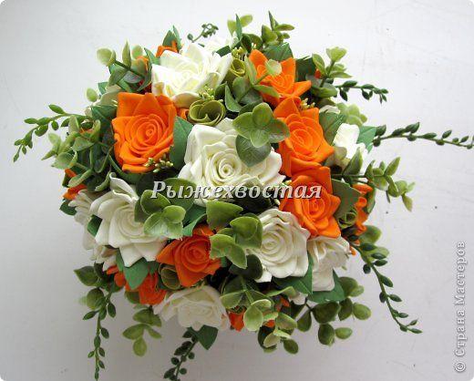 Флористика искусственная Моделирование конструирование Композиция на кухню розы из фоамирана Фоамиран фом фото 5