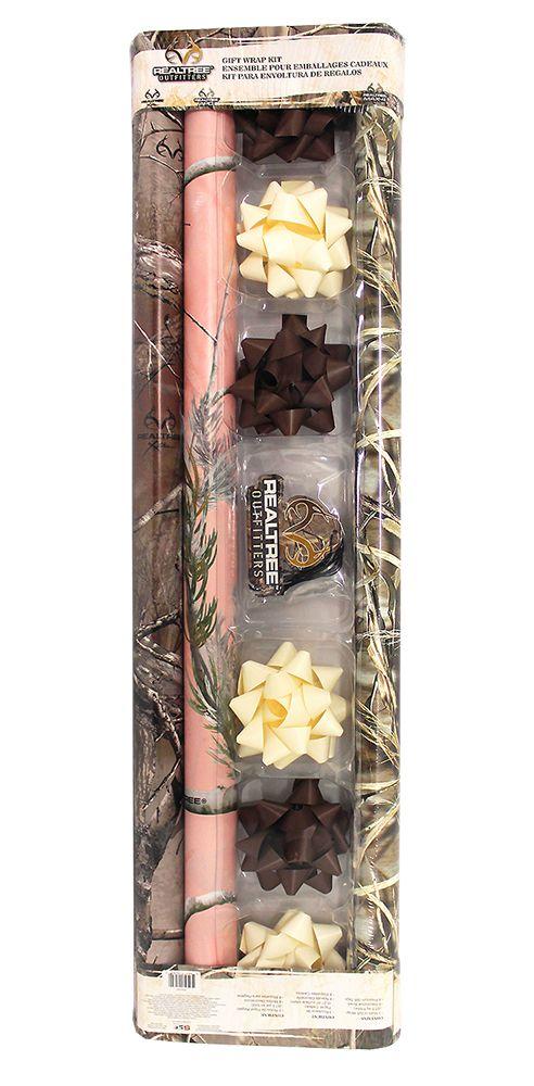Realtree Gift Camo Wrapping Ensemble $9.99  #Realtreecamo