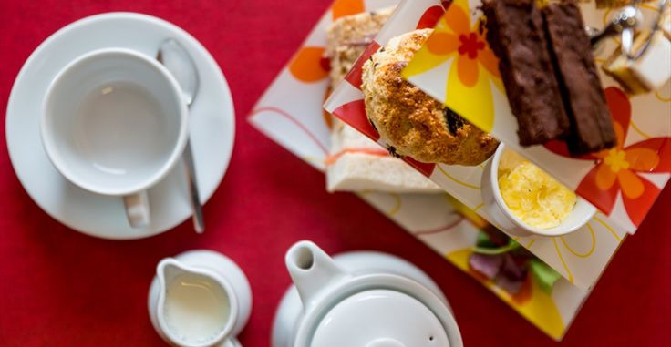 Afternoon Tea at Deepdale Cafe, our lovely cafe at Dalegate Market, which serves breakfast, lunch and afternoon tea.
