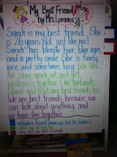 "Personal Narratives-This is for a second grade class, but she has a great ""write about your best friend"" lesson!"