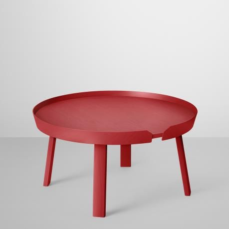 Around coffee table large, red