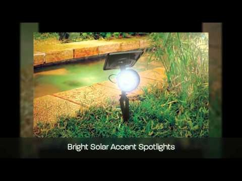 Curious about Solar Spot Lights?     This video reviews the different types and functions of solar spotlights, including what to look for when buying and ideas to create layers of light throughout your garden with different types of spotlights.