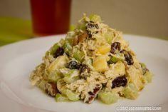 Ensalada de pollo con apio, manzana y nuez. Receta | Cocina Muy Fácil | http://cocinamuyfacil.com