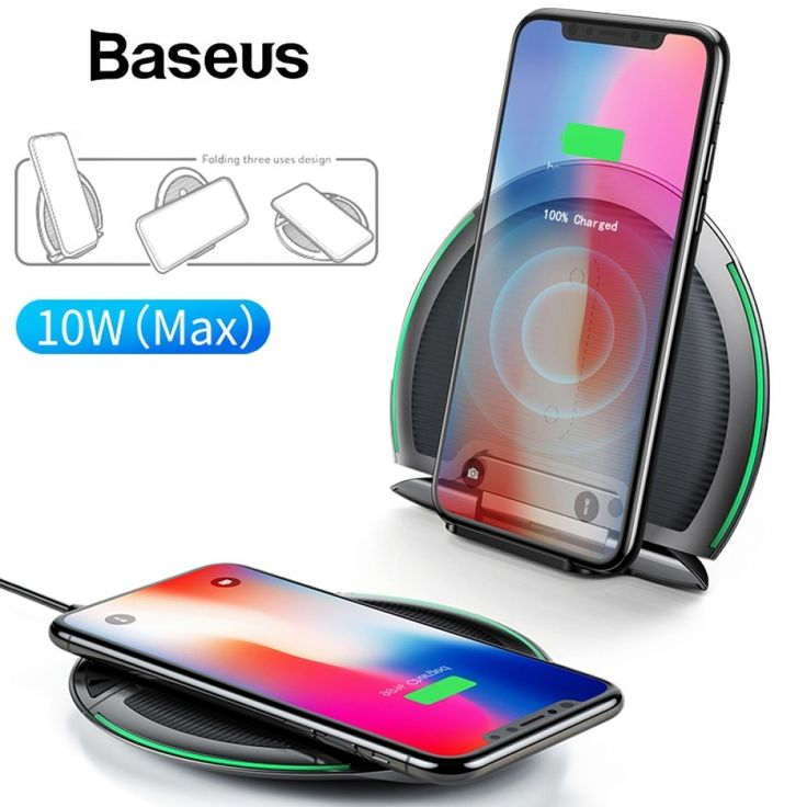 Baseus collapsible wireless charger for iphone x xs xs max