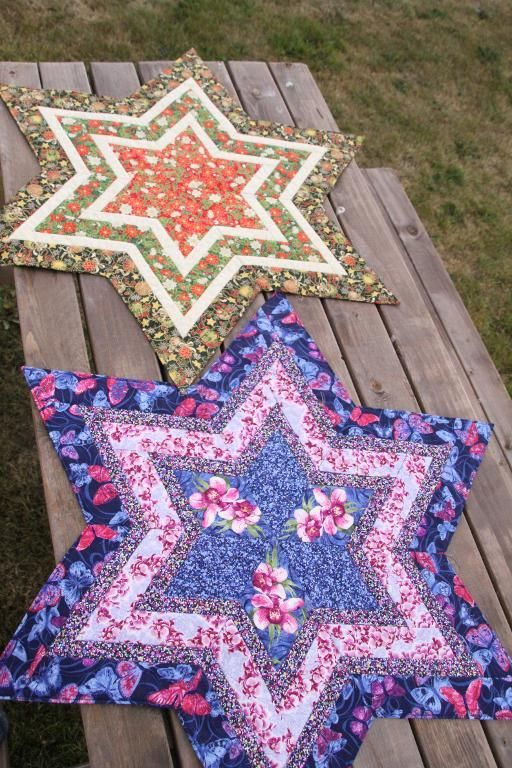 (7) Name: 'Quilting : Starry table center piece PDF pattern