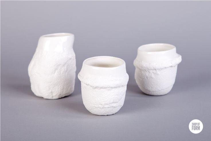 #HugMugs by Julia Gunko #ceramics #mugs #murushki #young #designers #Lodz #festival #design #shopofform #natural #porcelain photos are made by Marta Jagielska.