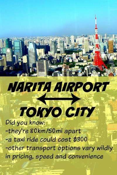 Figure out how to get from Narita Airport to Tokyo before you land. There are options for all budgets — should you take the taxi, bus, or train?