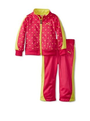 60% OFF Puma Girl's Printed Colorblock Tricot Set (Fuchsia Purple)