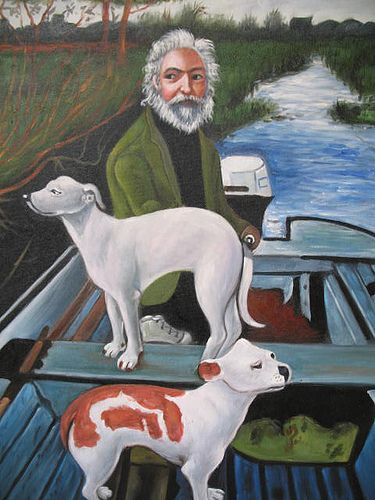 """""""Oh I like this one… One dog goes one way, the other dog goes the other way, and this guy's sayin', 'Whadda ya want from me?'"""" -The famous Goodfellas painting"""