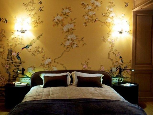 #PascalDelmotte #interiordesign #home #design #decorating #residentialdesign #homedecor #colors #decor #designidea #bed #wallpaper