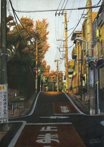 """夕日を背負って 豊島区雑司が谷 """"Carrying the Sunset, Toshima-ku Zoshigaya"""" Ryota Hayashi"""