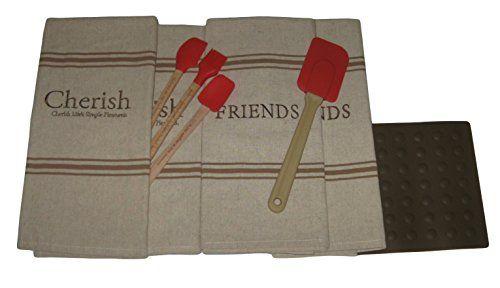 Cherish Friends Scripture Kitchen Set - Decorative Towels and ...