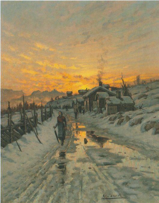 Ole Juul (1852-1927): Kvinne på landevei