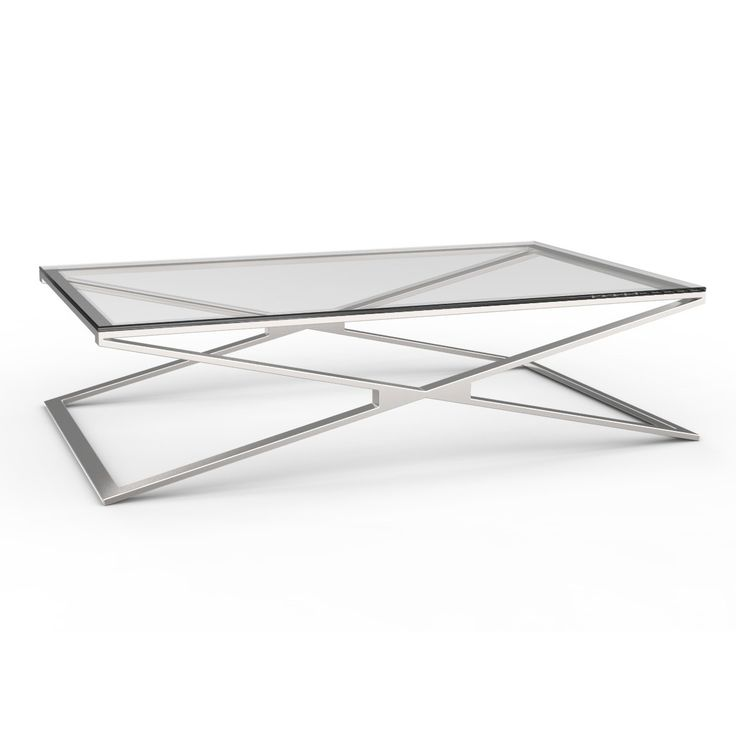 Contemporary and stylish, the Oxana Coffee table is exquisitely simple however adds so much shape and sophistication to a living room. The table's polished or brushed stainless steel, cross over legs are fun and eye catching! What's more, the coloured tempered glass table tops will add a splash of vibrancy to your living room. Stunning!