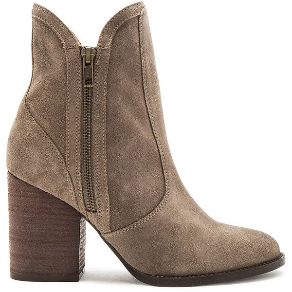 Seychelles Lori Penny Bootie (140 AUD) ❤ liked on Polyvore featuring shoes, boots, ankle booties, booties, high heel ankle booties, zipper booties, zip boots, bootie boots and high heel ankle boots