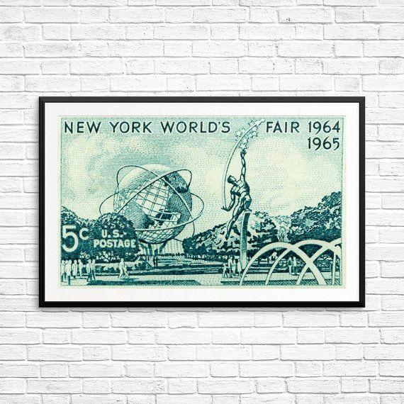 New York World's Fair 1964 World's Fair poster New by USAStampArt