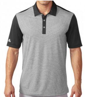 Polo de golf Adidas climachill™ Heather Stripe . Tecnología ClimaChill™ te mantiene fresco gracias a su tejido, sin sacrificar el estilo